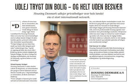 Article about Housing Denmark